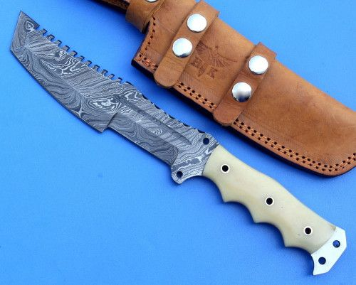Natural Camel Bone Handle Fixed Tracker Knife (sp1658)