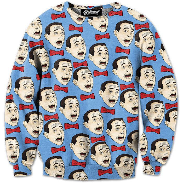 """belovedwear® presents the #PeeWee Sweatshirt by Michelle Sutterfield. This """"all over"""" print crewneck sweatshirt is made using a special sublimation technique to provide a vivid graphic image throughou"""