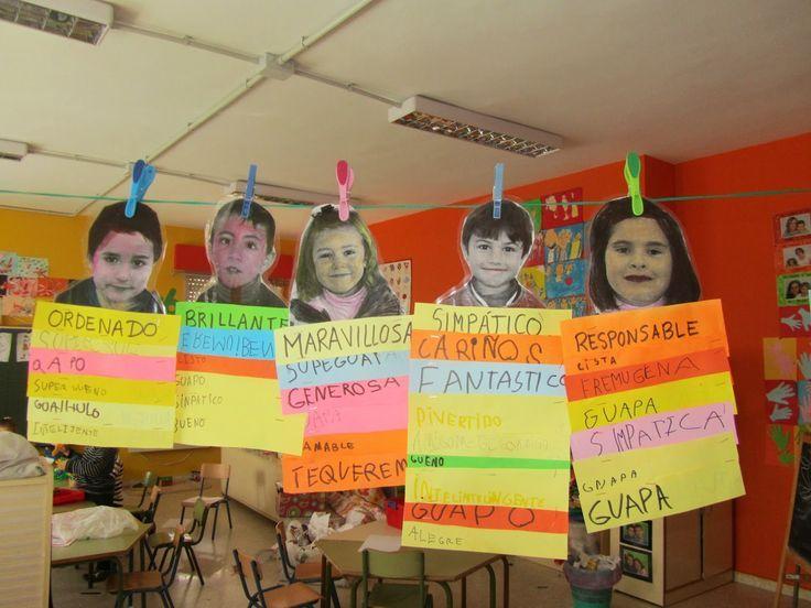 Decora el aula con las fotografías y personalidades de cada alumno