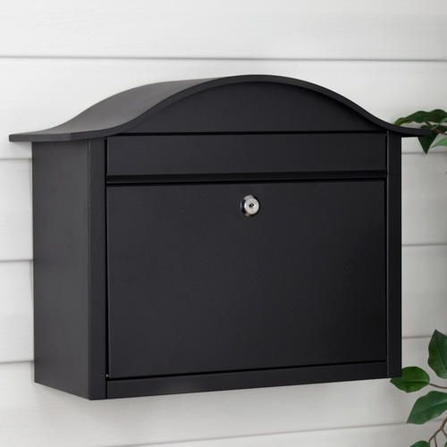Castle Locking Wall-Mount Mailbox with Newspaper Roll - Mailboxes and Slots - Outdoor