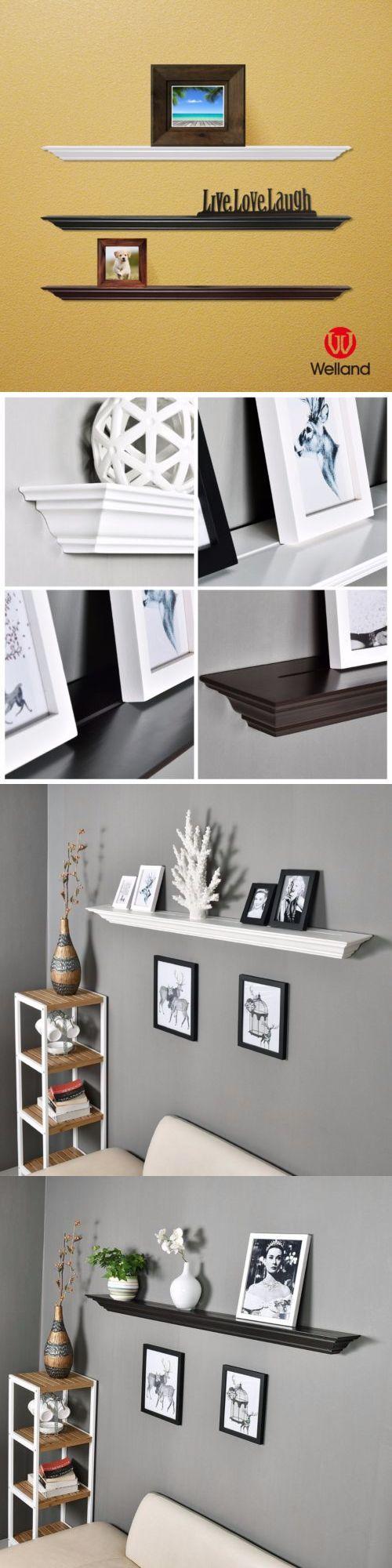 Wall Shelves 45501: Welland 60 Corona Crown Molding Floating Ledge Painted Wood Wall Shelf Shelves -> BUY IT NOW ONLY: $75.5 on eBay!