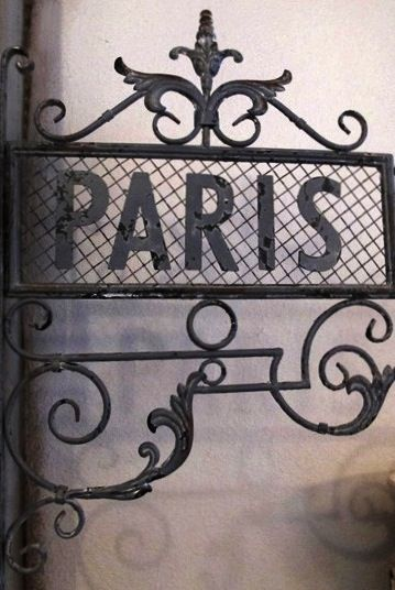 Wrought iron Paris sign.