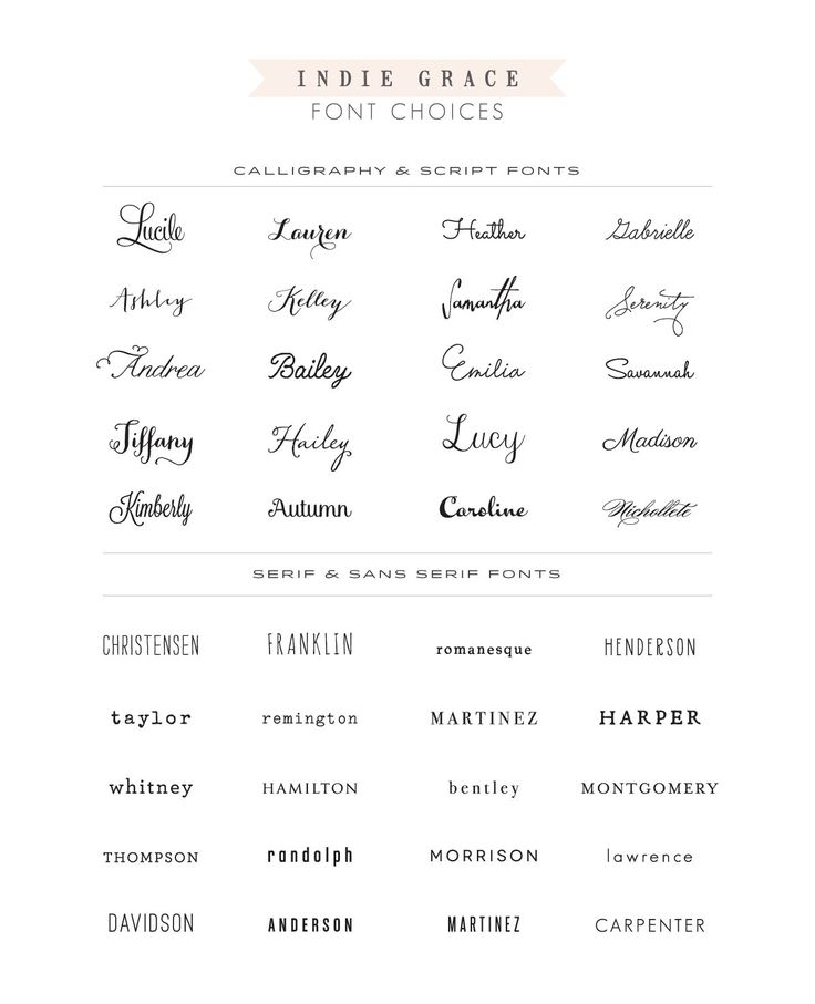 Fonts for future possible wedding invites :P