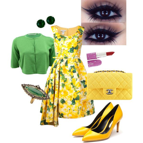 A fashion look from April 2014 featuring Oscar de la Renta dresses, Reed Krakoff and Rupert Sanderson pumps. Browse and shop related looks.