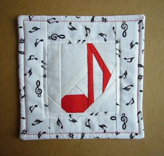 One Note Samba - this song was heard in my room when had sewing the coaster. Great present for musicians or for a friend. You will need...