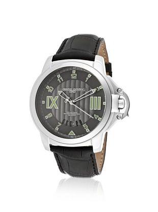 Jorg Gray Men's JG1850-21 Black/Silver Leather Watch