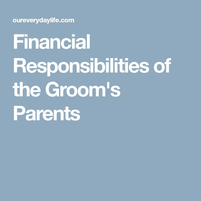 The 25 best grooms parents responsibilities ideas on pinterest financial responsibilities of the grooms parents sciox Gallery