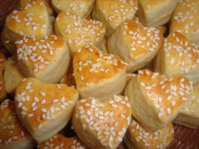 Sýrové pagáče - srdíčka