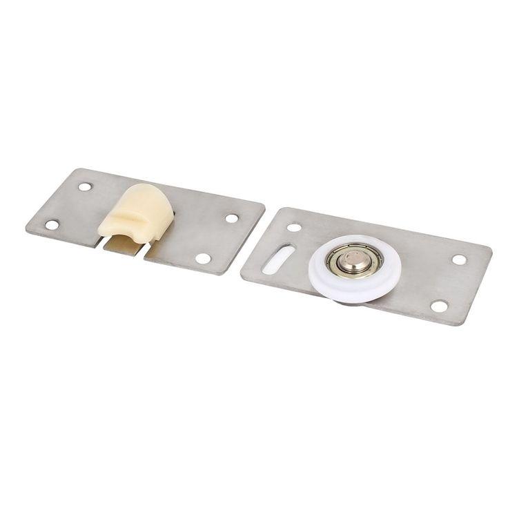 Furniture Wardrobe Stainless Steel (Silver) Plate Sliding Door Roller Set  33mm Dia Wheel