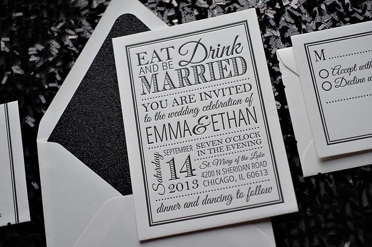 black and white glamour invitations, glitter wedding invitations, Wedding invitations