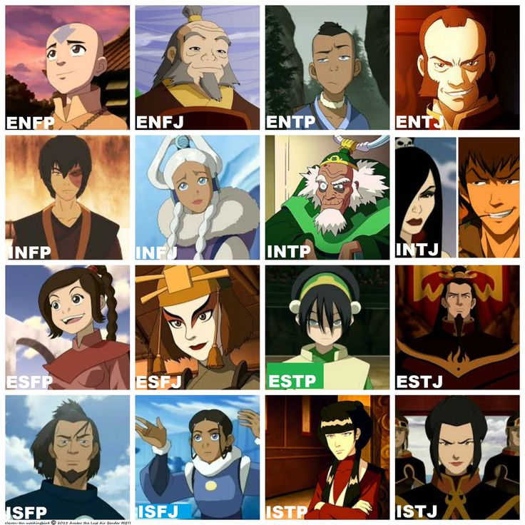Avatar the Last Air Bender MBTI accurate- funny that my favourite character was indeed the INFJ