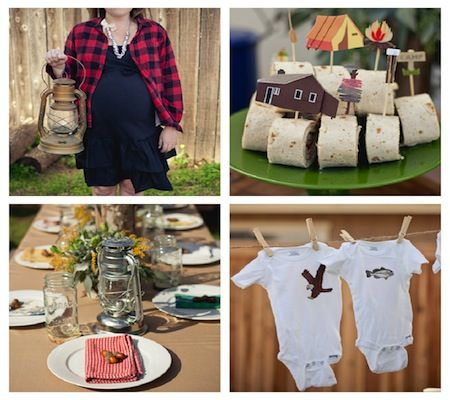 20 of the most creative baby shower themes.  I especially love the Camping shower, and Precious Cargo shower.