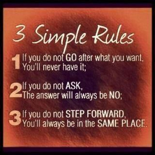 3 rules to make yourself move forward.