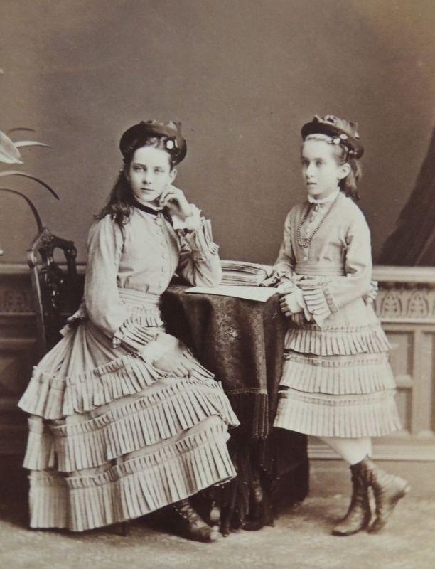 Princess Zenaida and Princess Tatiana Youssoupoff. Rare photograph. c. 1880's…