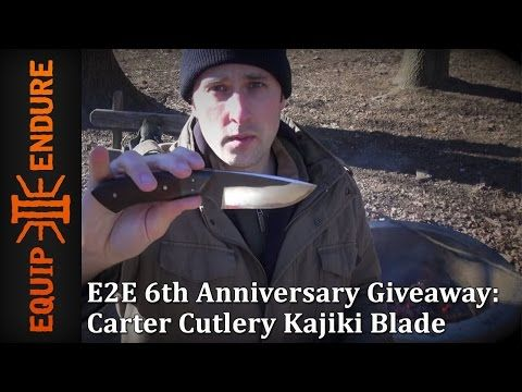 E2E 6th Anniversary Giveaway: Carter Cutlery Kajiki Blade   Giveaway   Equip 2 Endure - Get it on Amazon:  http://www.amazon.com/dp/B015MQEF2K - http://outdoors.tronnixx.com/uncategorized/e2e-6th-anniversary-giveaway-carter-cutlery-kajiki-blade-giveaway-equip-2-endure/
