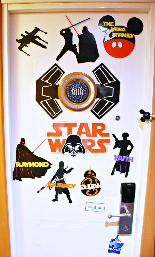 Star Wars door magnets for Disney Cruise - LivingMiVidaLoca.com