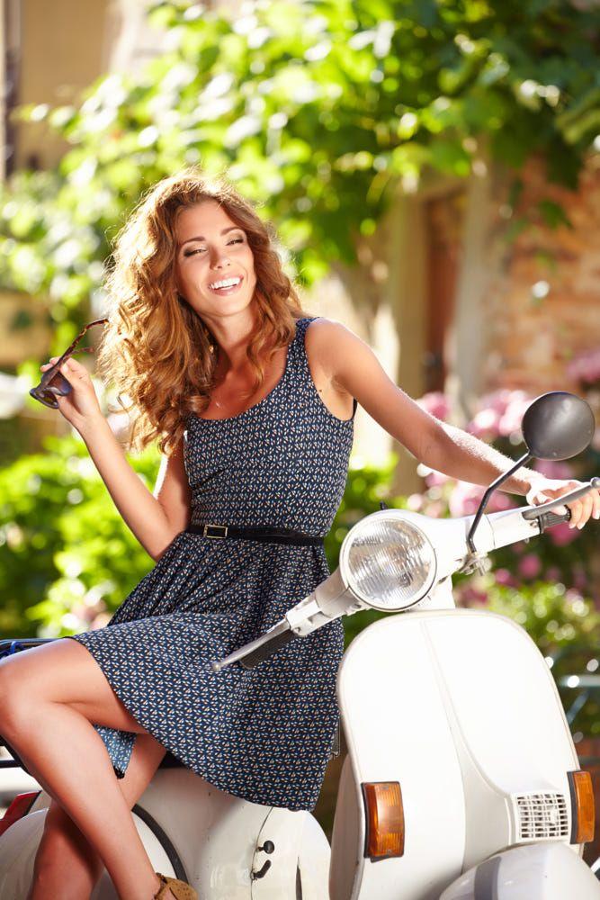 beautiful italian woman sitting on a italian scooter. by Tomasz Tulik on 500px