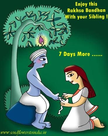 Sacred thread of affectionate bond woven with love and care.Raksha Bandhan, as is clear from its name, is an occasion where a sister asks his brother for a promise that he will always be there to protect her.  7 Days more to go for Rakhsa Bandhan ....