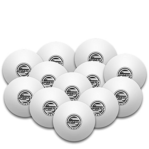 Sportiv Tisch Tennis Ping Pong B�lle, 3-Sterne-40�mm Advanced Training Verordnung B�lle 6�St�ck orange Wei� wei� 12er-Pack