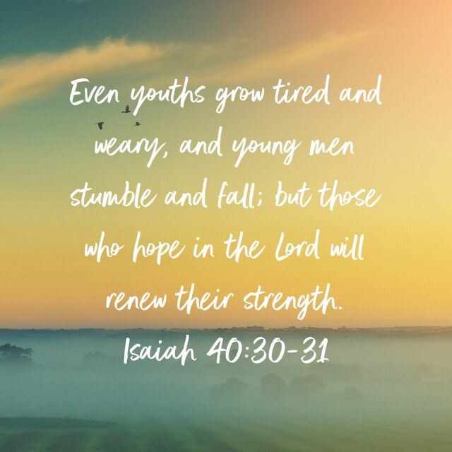 Isaiah 40 30 31 Isaiah 40 30 Hope For The Day Isaiah