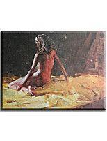 Peintures à l'huile Nu Style / Modern / Classique / Traditionnel / Réalisme / Méditerranéen / Pastoral / Style européen,Un Panneau Toile