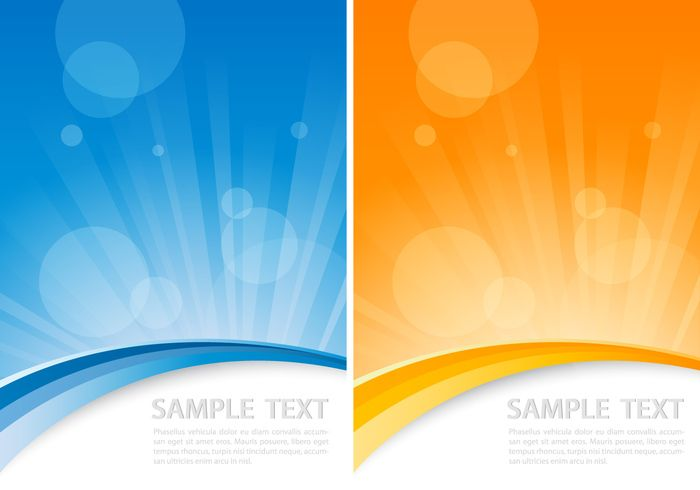 Orange and Blue Sunburst Background Pack