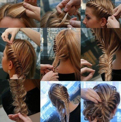 fishtail braid updo