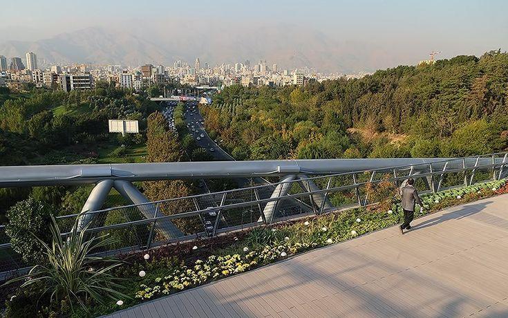 Nature Bridge   Iran's largest Pedestrian Bridge in Tehran ...