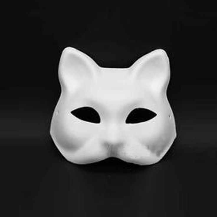 LOT 30 Sexy Cat Women Unpainted Blank Fox Face Mask Masquerade