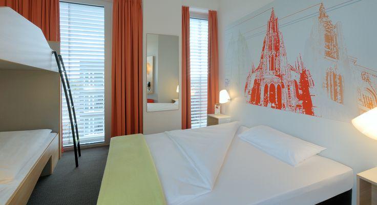 Familienzimmer für 4 Personen im B&B Hotel Ulm