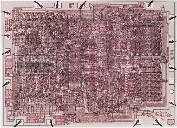 El Intel 4004 visto al microscopio