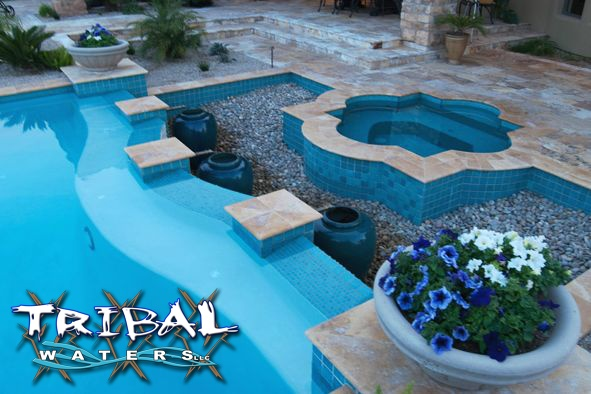 1000 images about tribal waters custom pool gallery on - Swimming pool contractors phoenix az ...