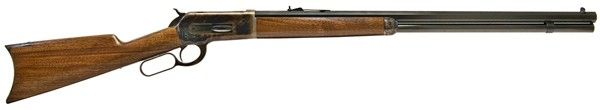 "1886 Lever Action Rifle .45-70, 26"" Octagonal Barrel - Some sporting rifles are just too good to die; a classic example is the 1886. Originally created by genius gunsmith John Moses Browning and produced from 1897 to 1935, it has been resurrected by Chiappa Firearms as the 1886 Lever Action Rifle. An accurate reproduction of the original — except for 21st century technology — the new 1886 is machined to exact tolerances to assure interchangeability of parts. It uses modern metallurgy ."