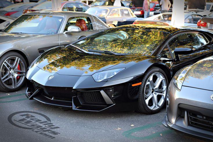 Lamborghini Aventador - Cars and Coffee Irvine.