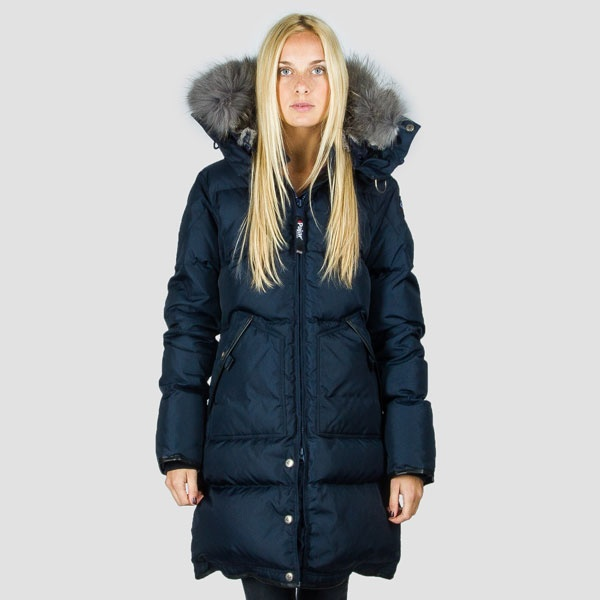 Womens Cougar Full Long Parka by Pajar - Navy with rabbit fur ...