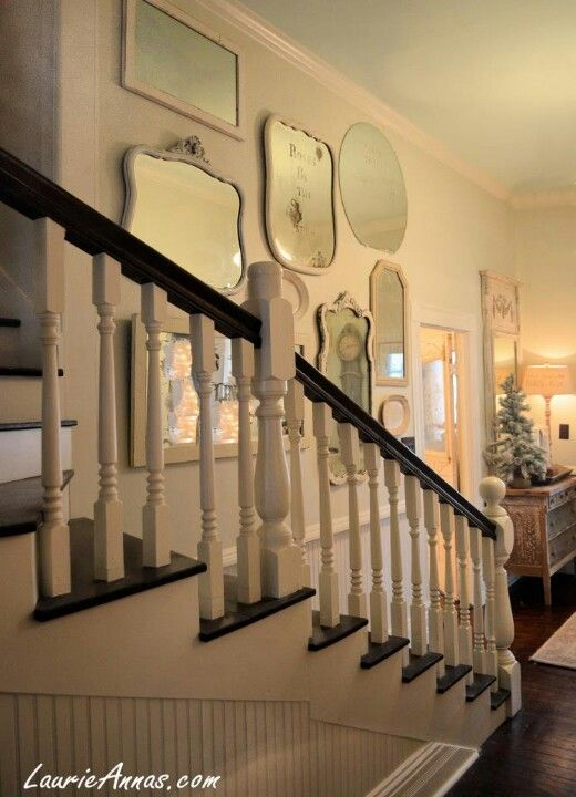 Foyer Mirror University : Best images about stair hall on pinterest wall