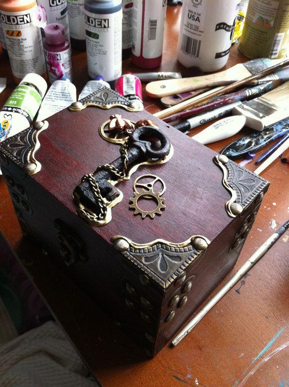Steampunk trinket box by Lisa Steinke