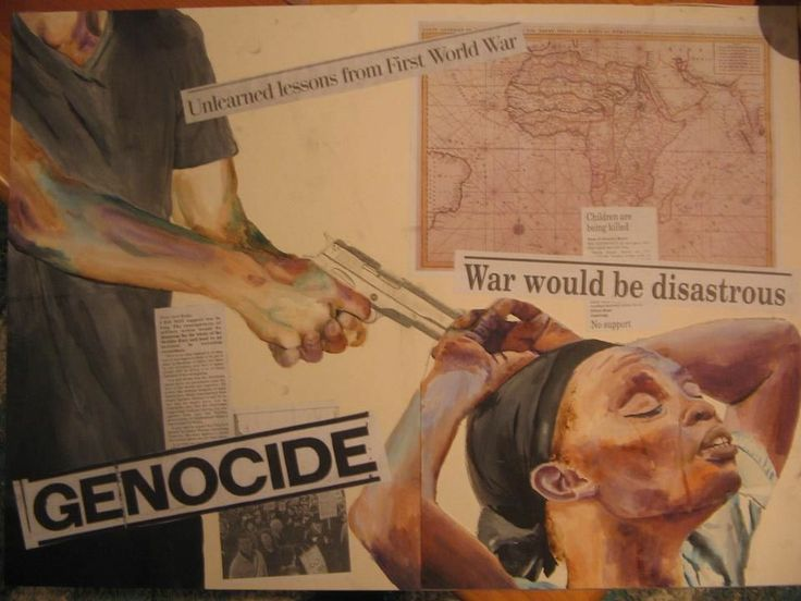 Genocide (school project 2013)... mixed media, Küra. SOLD