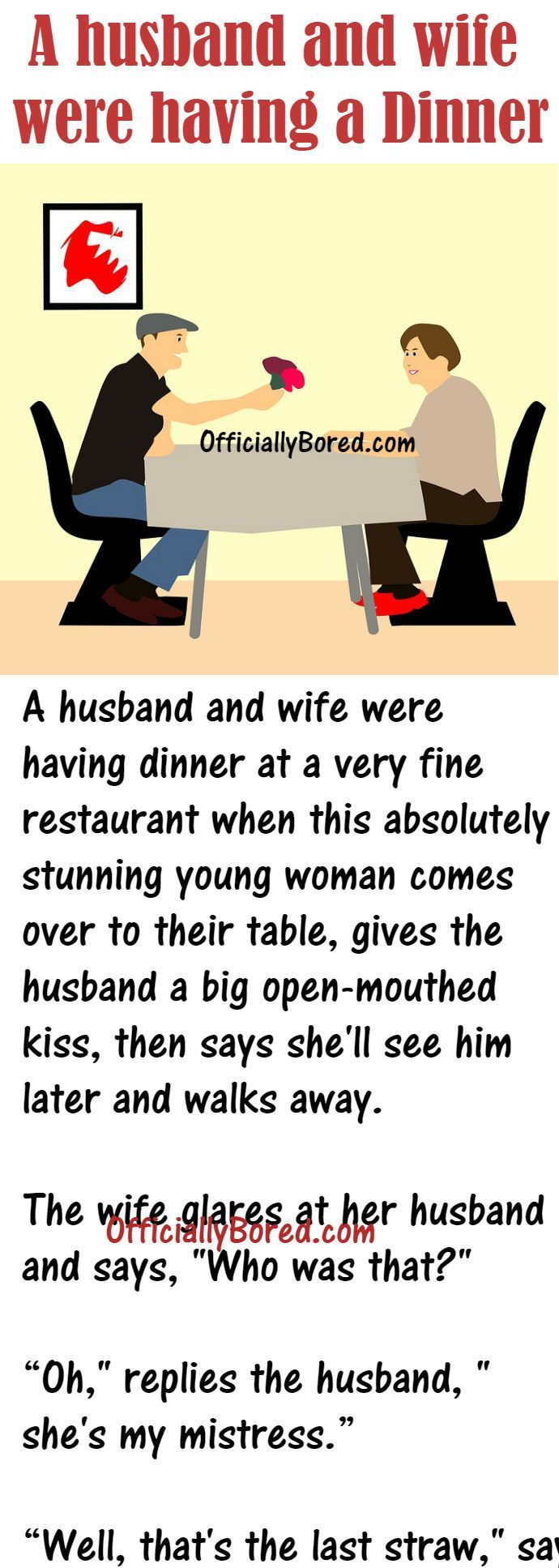 When A Woman Met With Her Husband S Mistress Funny Marriage Jokes Husband Jokes Funny Long Jokes