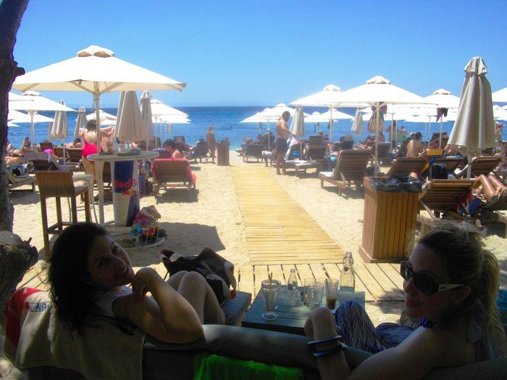 "with my friends at ""Ble"" beach bar at Alimos coast, Attiki Greece"