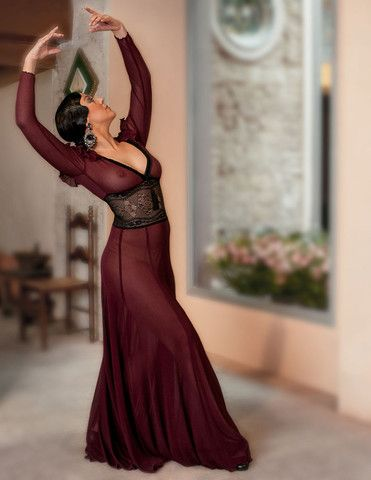Burgundy Dress - Rosalía Zahíno http://rosalia-zahino.myshopify.com/products/burgundy-dress