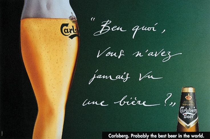 "Read more: https://www.luerzersarchive.com/en/magazine/print-detail/carlsberg-5406.html Carlsberg What´s wrong? Heaven´t you ever seen a beer? (""Beer"" in French is a female gender word.) Tags: Pascal Demeester,Proximity BBDO, Brussels,Christina Gesulfo,Vincent Abrams,Carlsberg"