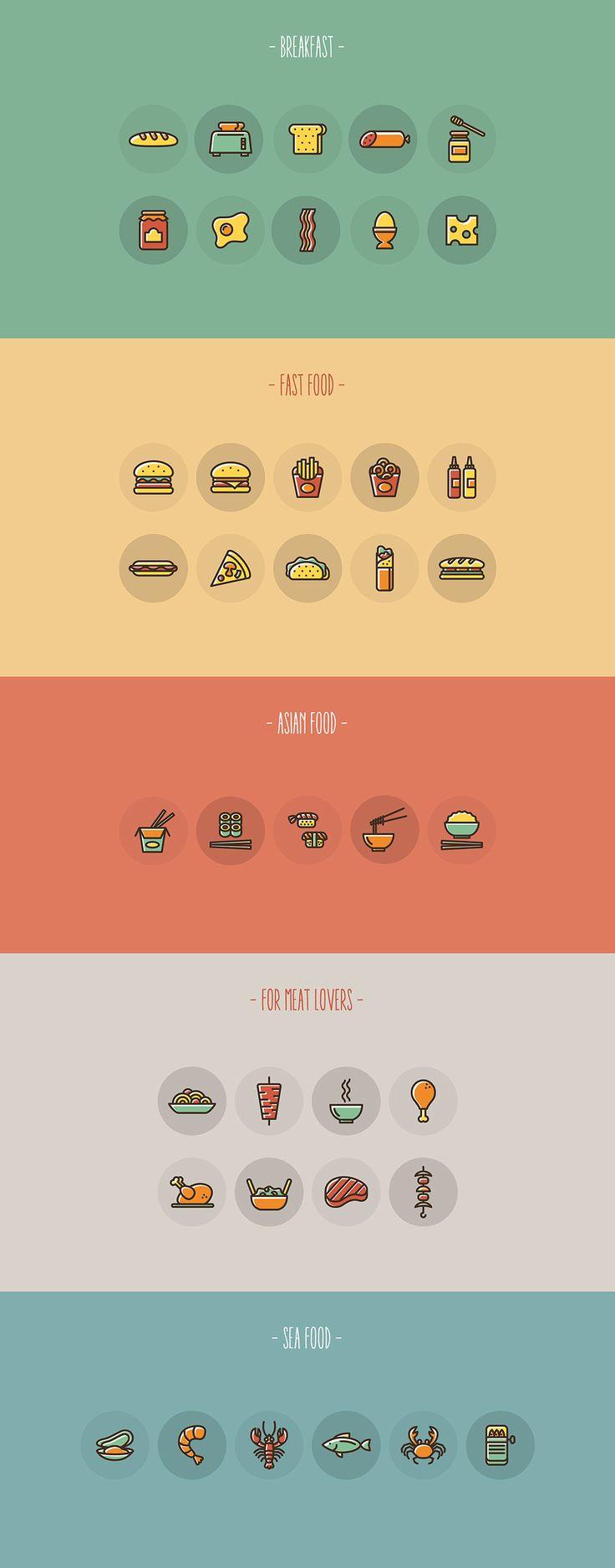 Food Icon Set On Behance