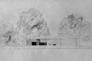 10 Architectural Drawings by Famous Architects: The Farnsworth House, 1945 to 1951