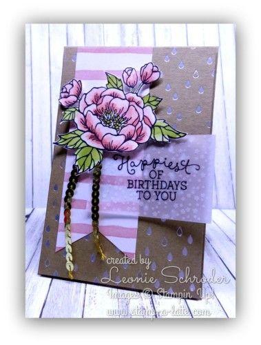 """By Leonie Schroder, Stampin' Up! """"Birthday Blooms""""stamp set ..."""