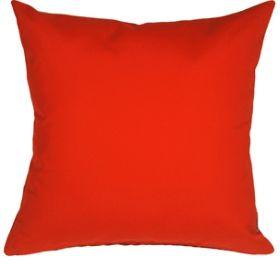 Pillow Decor - Sunbrella Logo Red 20x20 Outdoor Pillow