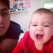 Edu y su hijita antonella ♥