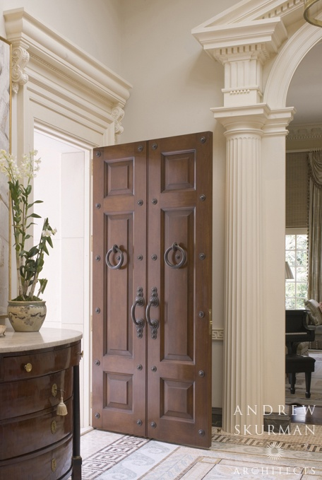 Entrance door at the front hall by Andrew Skurman Architects. & 379 best ~ Entrances and Foyers ~ images on Pinterest Pezcame.Com