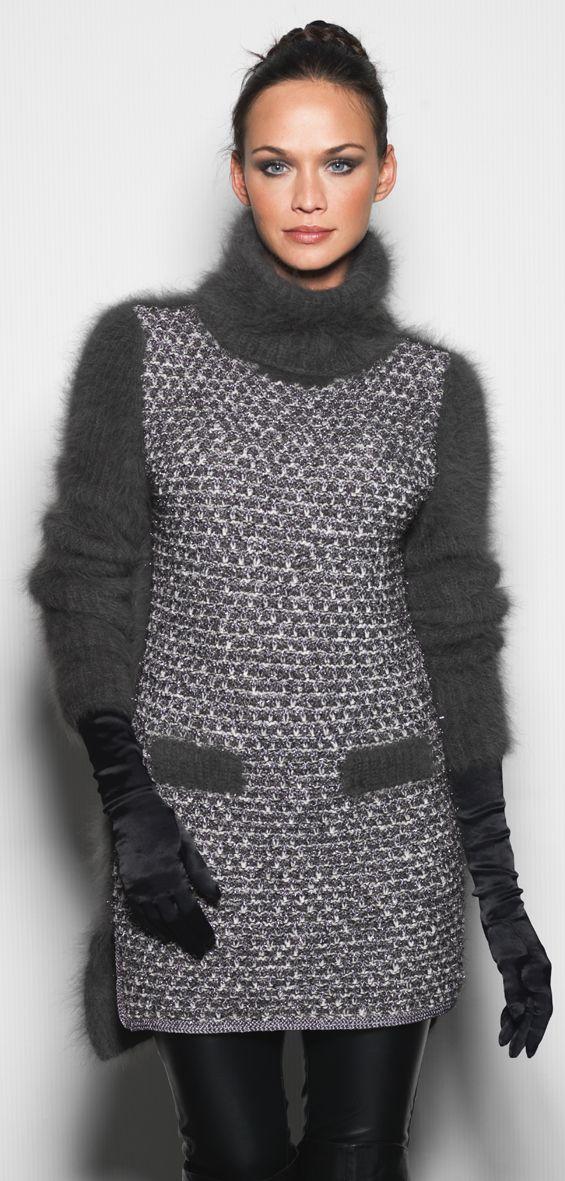 Delft Robe tunique : Angora, Laine, Viscose, Polyester, Polyamide › Tunique › Femme › Laines Annyblatt