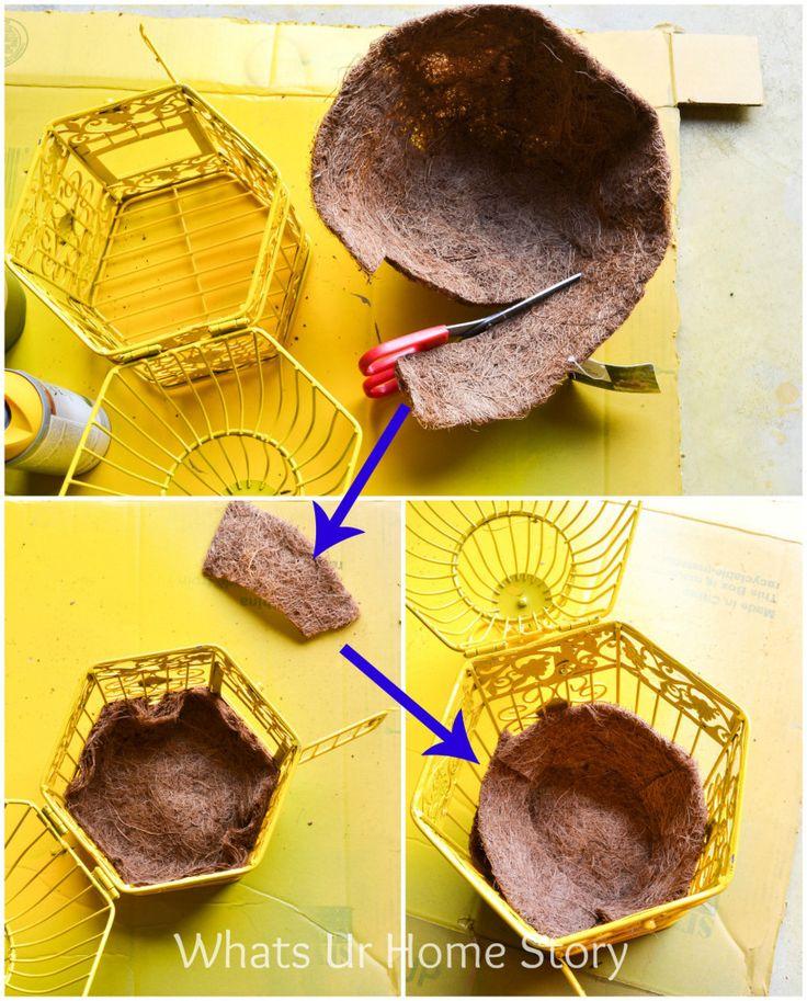 How to make a bird cage planter @ www.whatsurhomestory.com